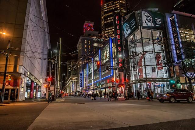 Robson Street em Vancouver