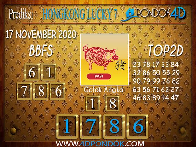 Prediksi Togel HONGKONG LUCKY 7 PONDOK4D 17 NOVEMBER 2020