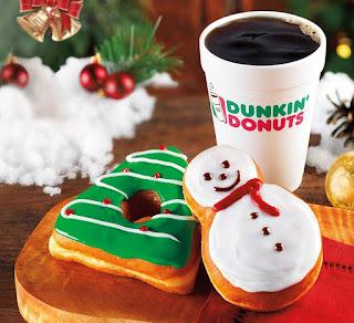 298101d12 Snowman and fir tree-shaped donuts mark joyous spirit of the season