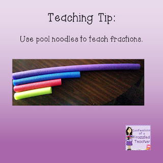 Teaching Tip: Use Pool Noodles to Teach Fractions