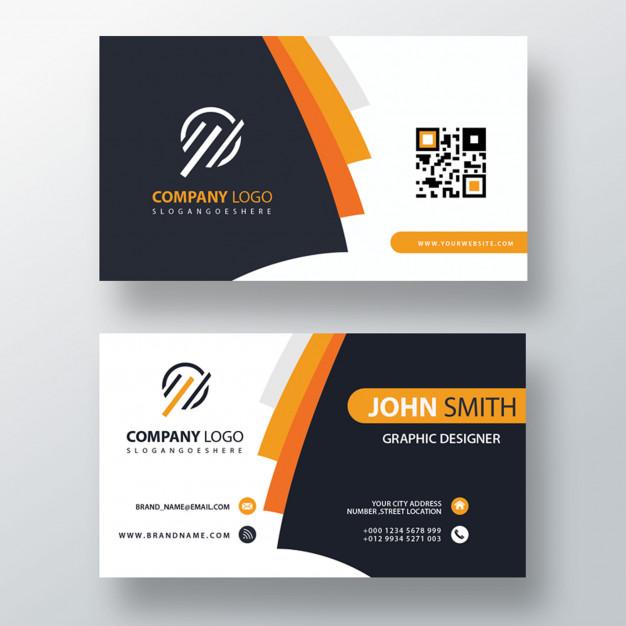 Download Orange elegant corporate card Free Psd