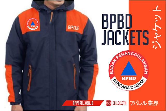 Jacket BPBD Badan Penanggulangan Bencana Daerah Waterproof