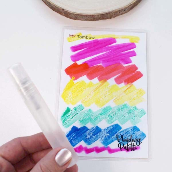Make a watercolor wash for a background wood slice