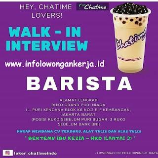 Info Lowongan Kerja Barista Chatime Jakarta