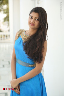 Telugu Actress Akshita (Pallavi Naidu) Latest Stills in Blue Long Dress at Inkenti Nuvve Cheppu Movie Promotions  0017.jpg