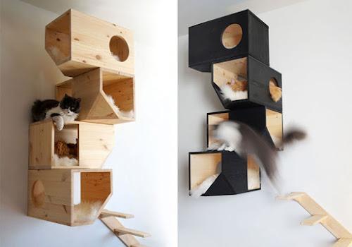 Camas empotradas en pared para gatos