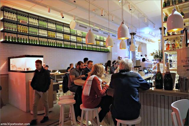 Zona de Bar en The Seafood Bar en Amsterdam