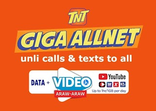 TNT Giga AllNet Promo – Unlimited Call and text to all networks + Data