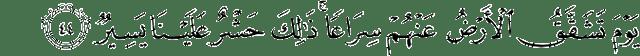 Surat Qaaf ayat 44