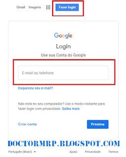 acesse sua conta google