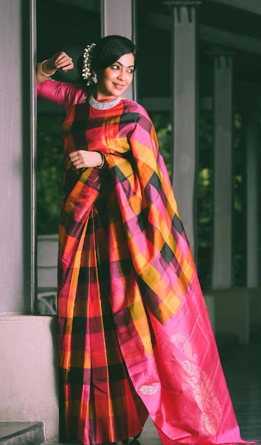 Ramya Subramanian In Red Saree