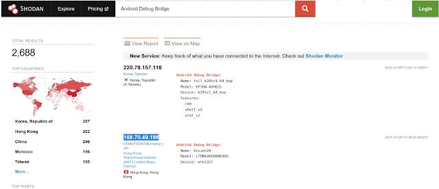 Shodan Android Debug Bridge