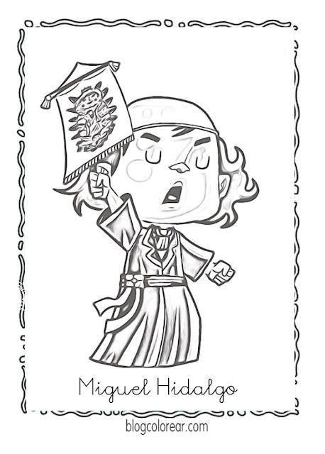 grito de Dolores dibujos para colorear