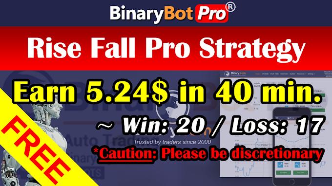 Rise Fall Pro Strategy (8-Jan-2021)   Binary Bot   Free Download