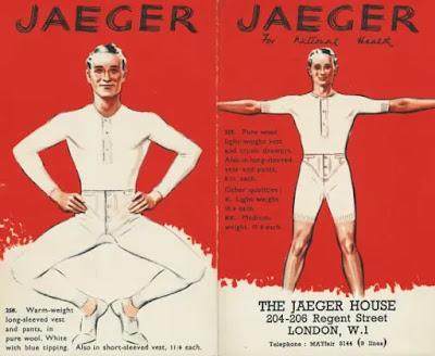 Jaeger woollen long johns advertisement 1940s