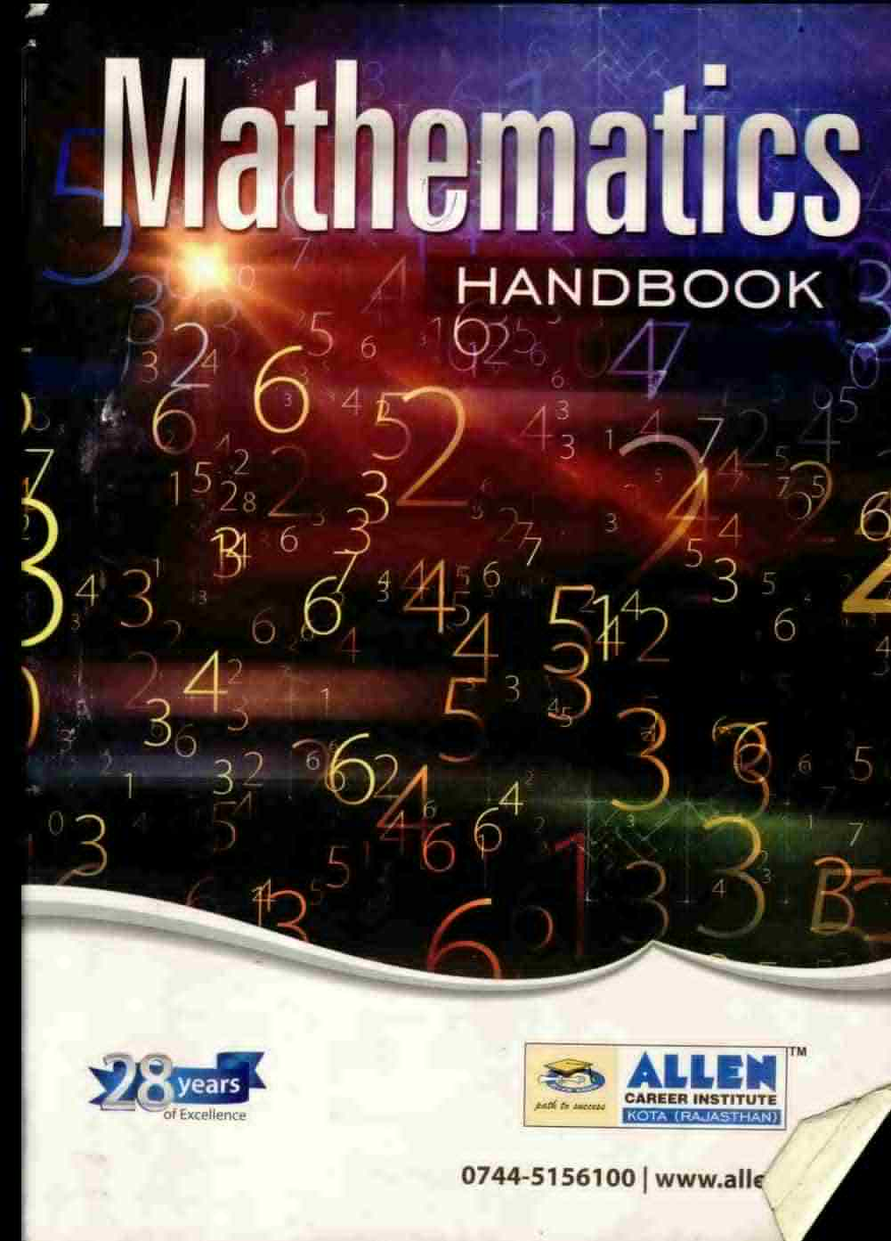 Allen Mathematics Handbook PDF Free Download | IIT | My Guide PDF