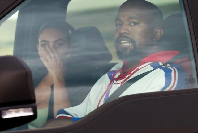 Kim Kardashian breaks down in tears as she reunites with Kanye West