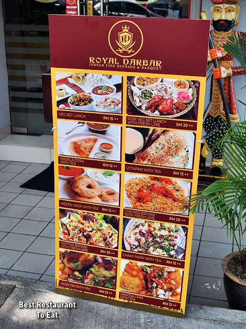 Royal Darbar Restaurant Menu Lunch Buffet Price RM24.99