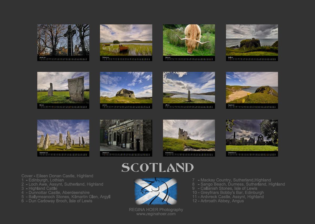Kalender Schottland 2018