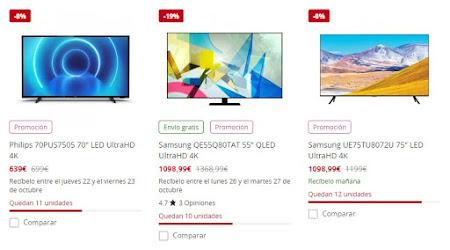 Excelentes ofertas de PcComponentes en 10 televisores