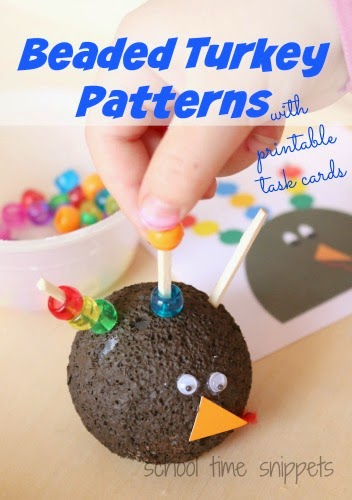 preschool turkey busy bag idea