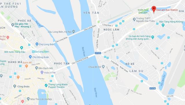gia lam map hanoi vietnam