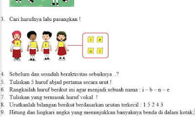 Download Kumpulan Soal UAS Kelas 1 SD Kurikulum 2013/K13 Revisi 2018 Semester 1