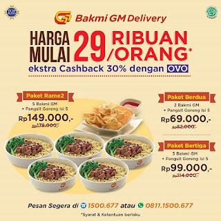 #BakmiGM - #Promo Paket Mulai 29K / Orang + Ekstra Cashback 30% Pakai OVO (s.d 30 Sept 2019)