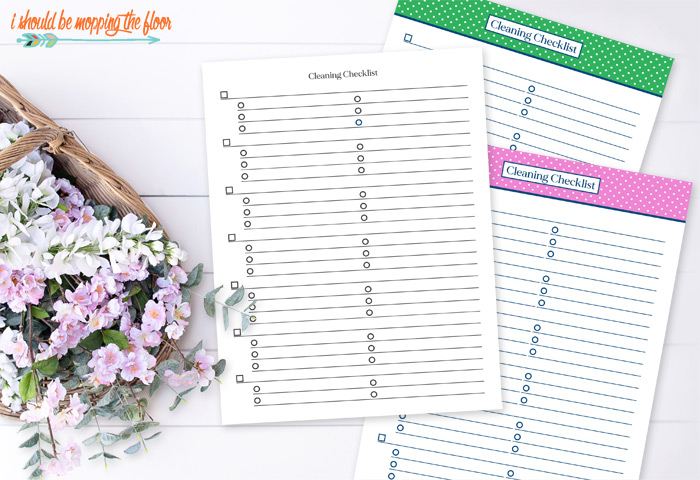 Free Printable Cleaning Checklist Templates