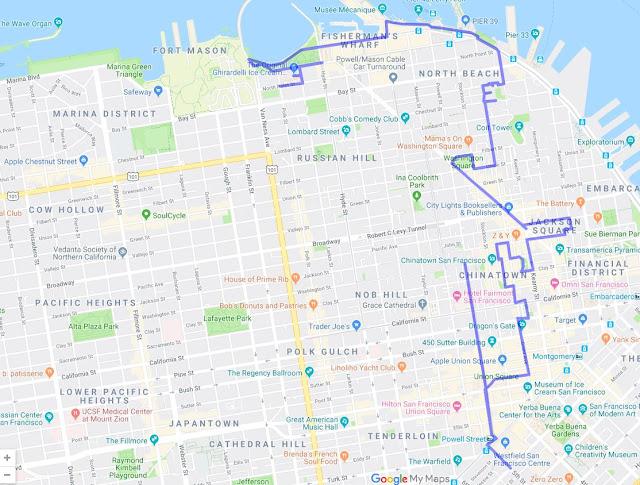 Barbary Coast Trail Map in San Francisco