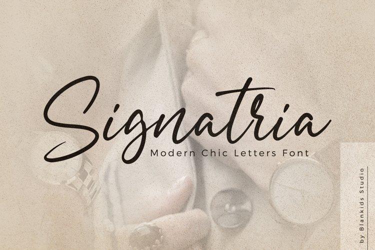 Signatria Font - Free Chic Letter Typeface