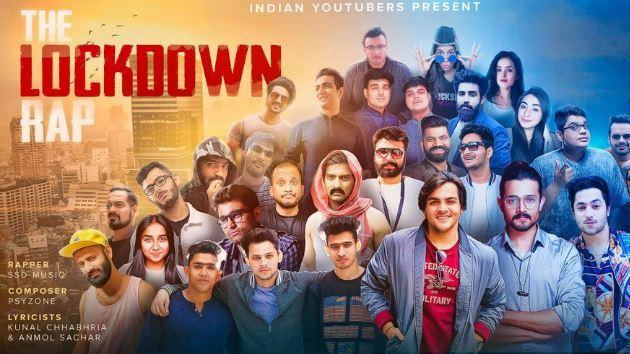 The Lockdown Rap Lyrics |  Ft. Indian Youtubers | Song Download