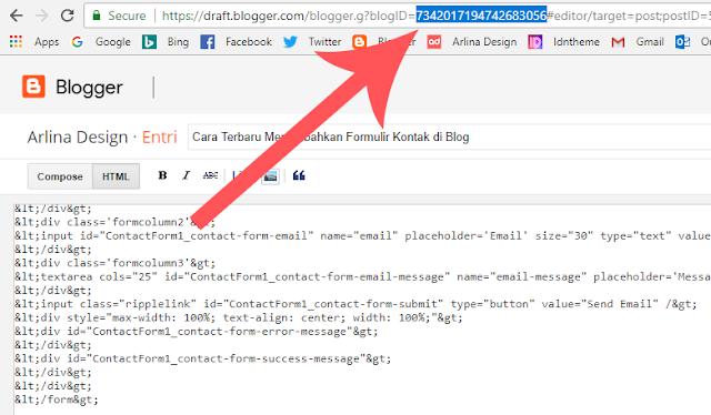 Cara Membuat Contact Form (Contact Us) Keren di Blogspot - Cara Melihat ID Blog di Blogger
