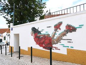 Cross stitch and street art