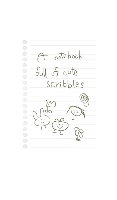 A notebook full of cute scribbles