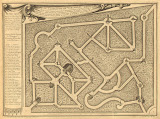 Plan of the Versailles Labyrinth by Gabriel Perelle - Landscape, Architecture art prints from Hermitage Museum