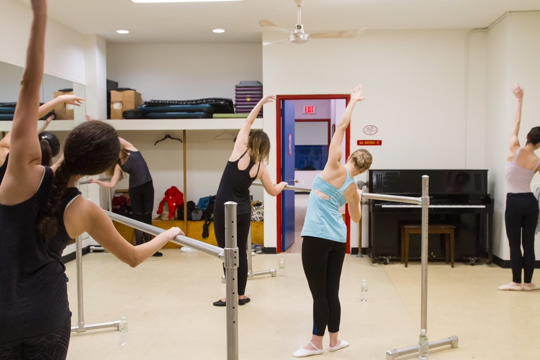 Ballet fitness class at The Ballet Spot in New York City.