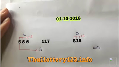 Thai lottery hot 3up formula tips numbers 01 October 2018