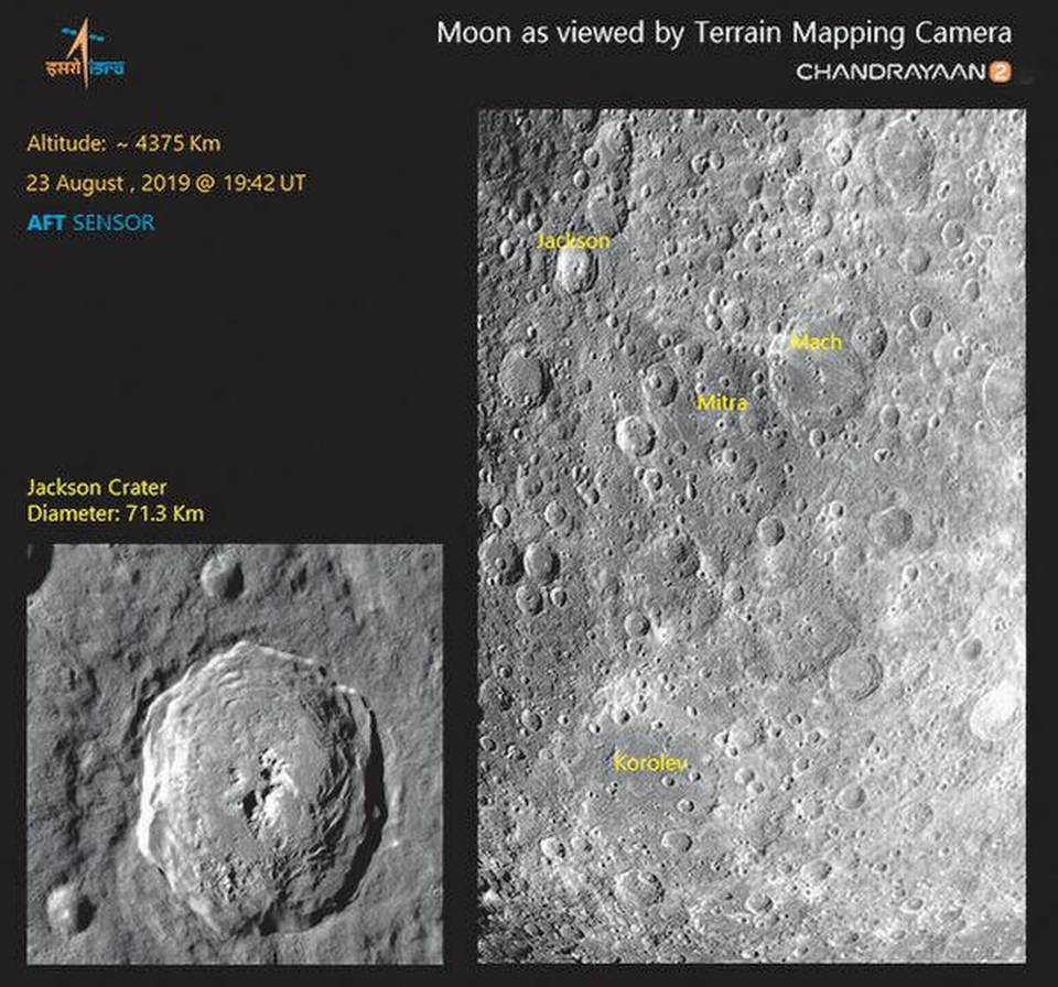 CHANDRAYAAN 2 SCANS THE MITRA CRATER