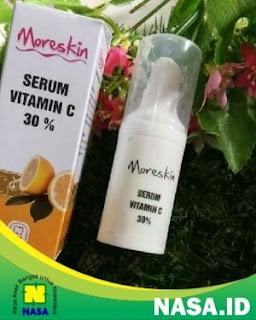 Moreskin Serum Vitamin C 30%  Mencerahkan Melembaban Wajah