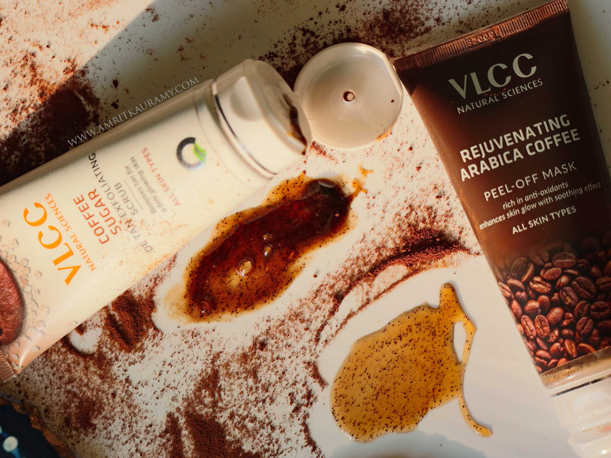 VLCC Coffee Sugar Scrub and Arabica Coffee Peel-off Mask