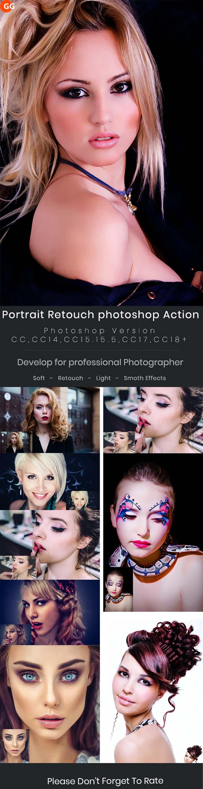 10 Portrait Retouch Photoshop Action