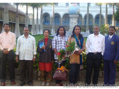 Kalki with the faculties and staff of Montfort school - 2011