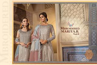 Shree Fab Mbroidered Mariya B Vol 9 Pakistani Suits