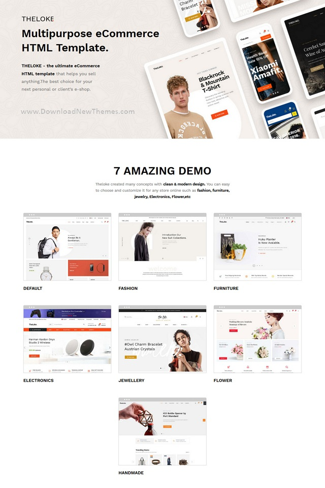 Multipurpose eCommerce HTML Template