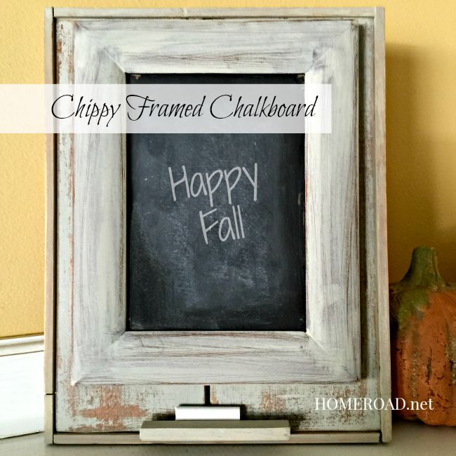 Chippy Framed Chalkboard www.homeroad.net