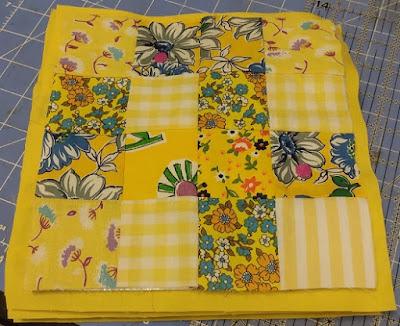 yellow quilt blocks