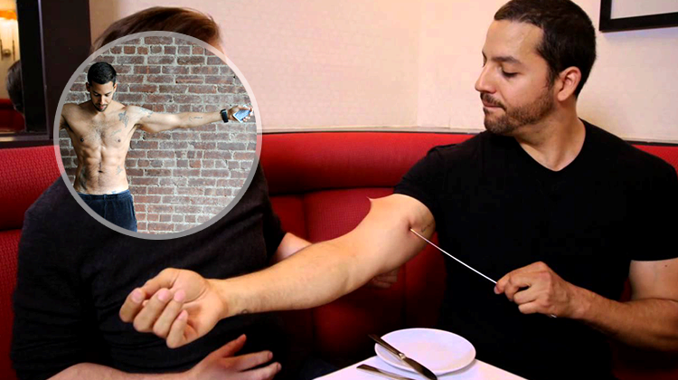David Blaine`s Needle Through His Arm - Secret Of The Century Revealed