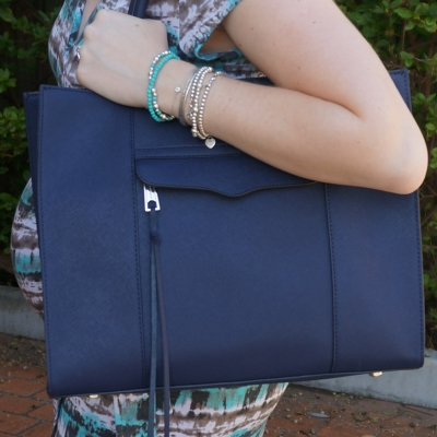 AwayFromTheBlue | Rebecca Minkoff moon navy medium MAB Tote bag baby bump