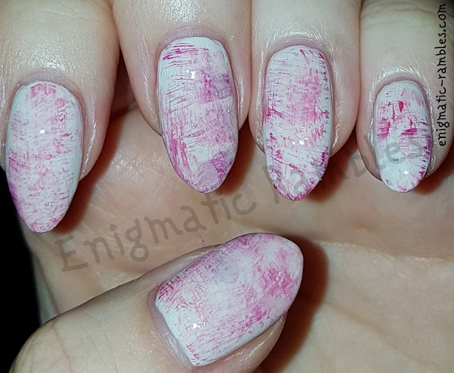 Pink-Drybrush-Dry-Brush-Nail-Art